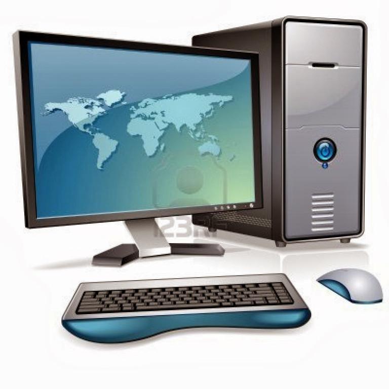 Картинка компьютер на фоне